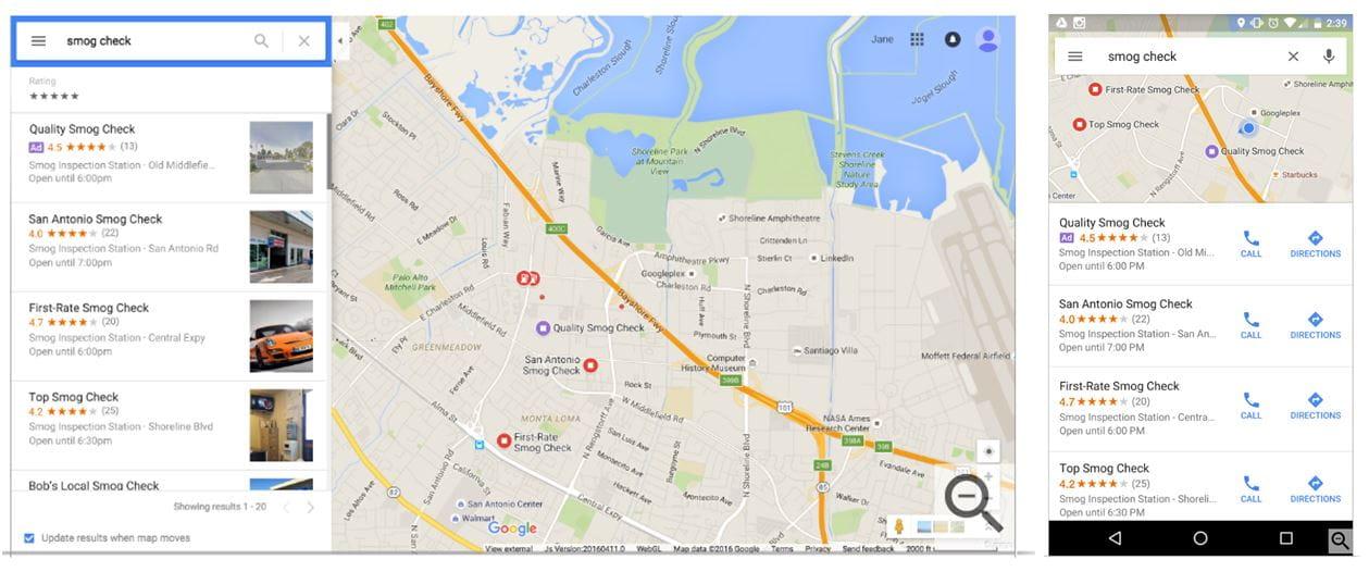 Werbung findet den Weg in Google Maps | iProspect on