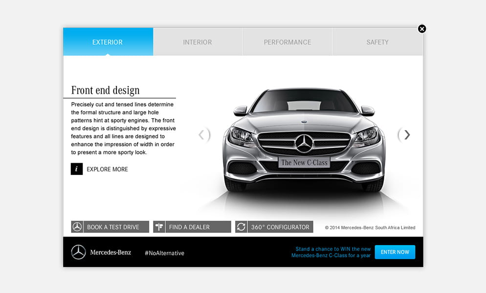 The new c class iprospect for Mercedes benz strategic plan