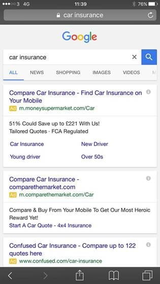 Google tests black links and green ad tags iprospect blog google links 1 google links 2 ccuart Gallery