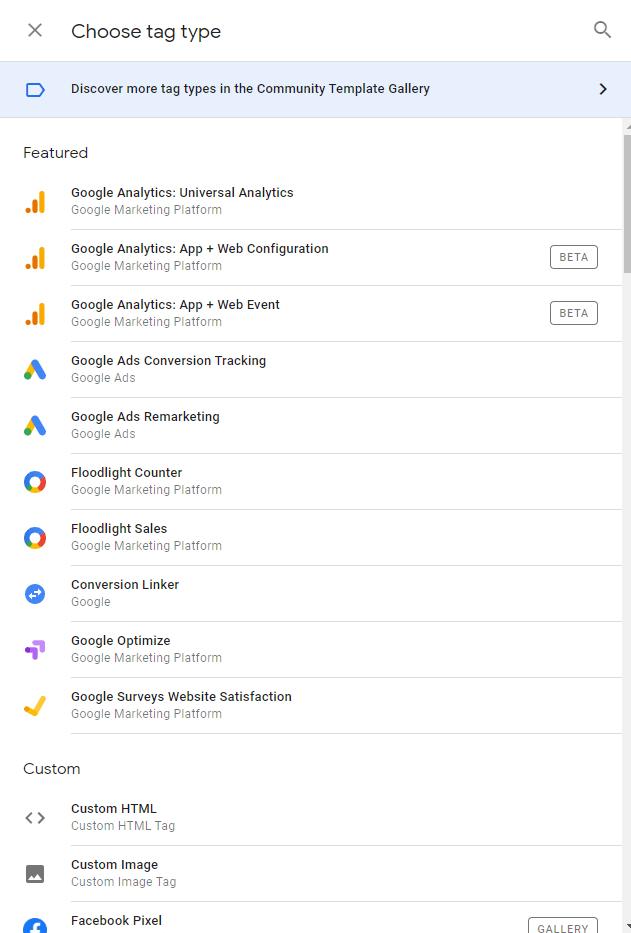 Templates i Google Tag Manager