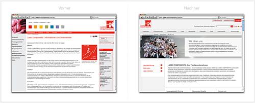 grafische Gegenüberstellung von alter und neuer Über Uns-Seite