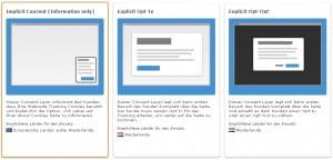 Publishertool zur Erstellung eines ePrivacy Layers