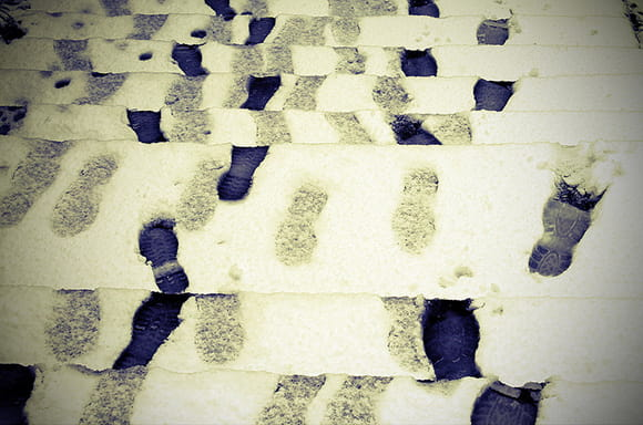 footprints snow