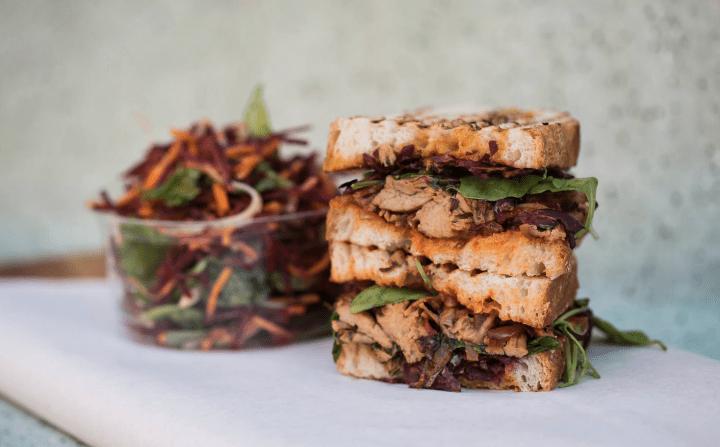 green bench sandwich