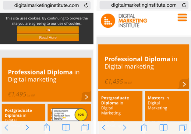 DMI Mobile Website