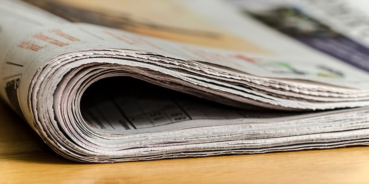 Illustrasjonsfoto av avis