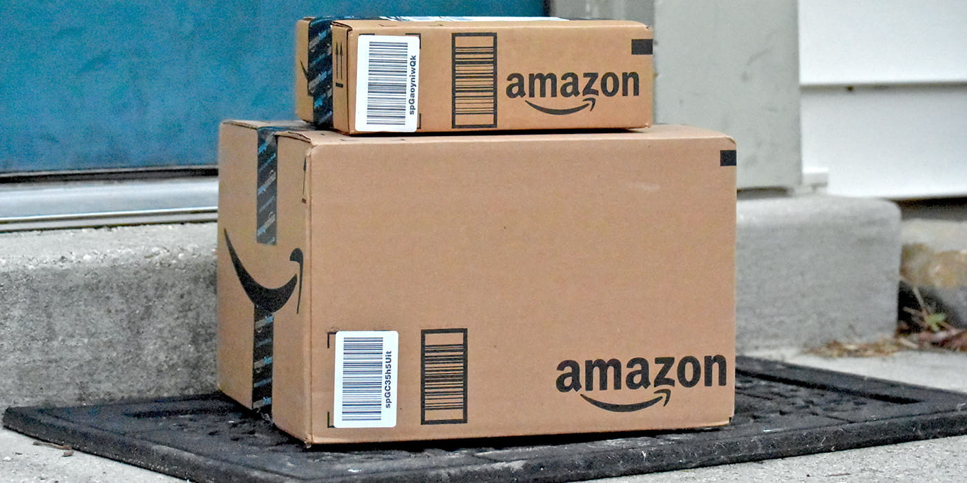 Stack of Amazon Prime Boxes