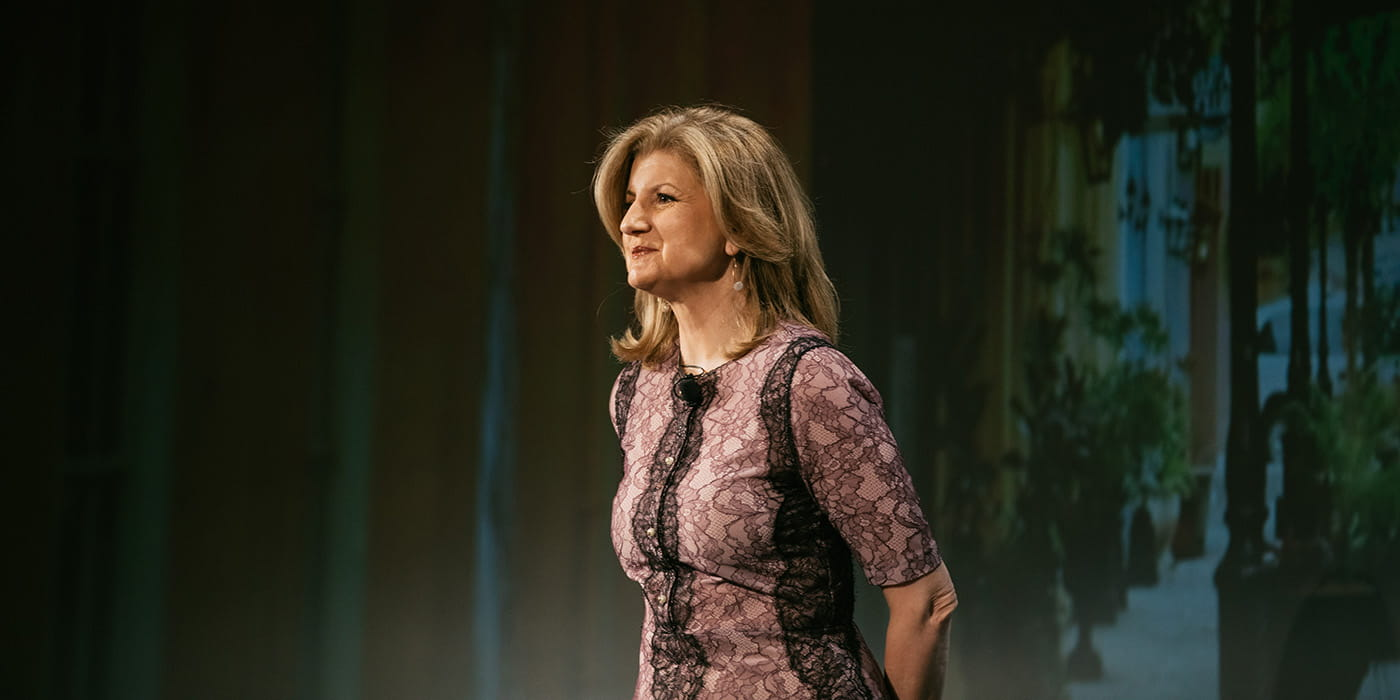 Arianna Huffington at 2017 iProspect Client Summit in New Orleans