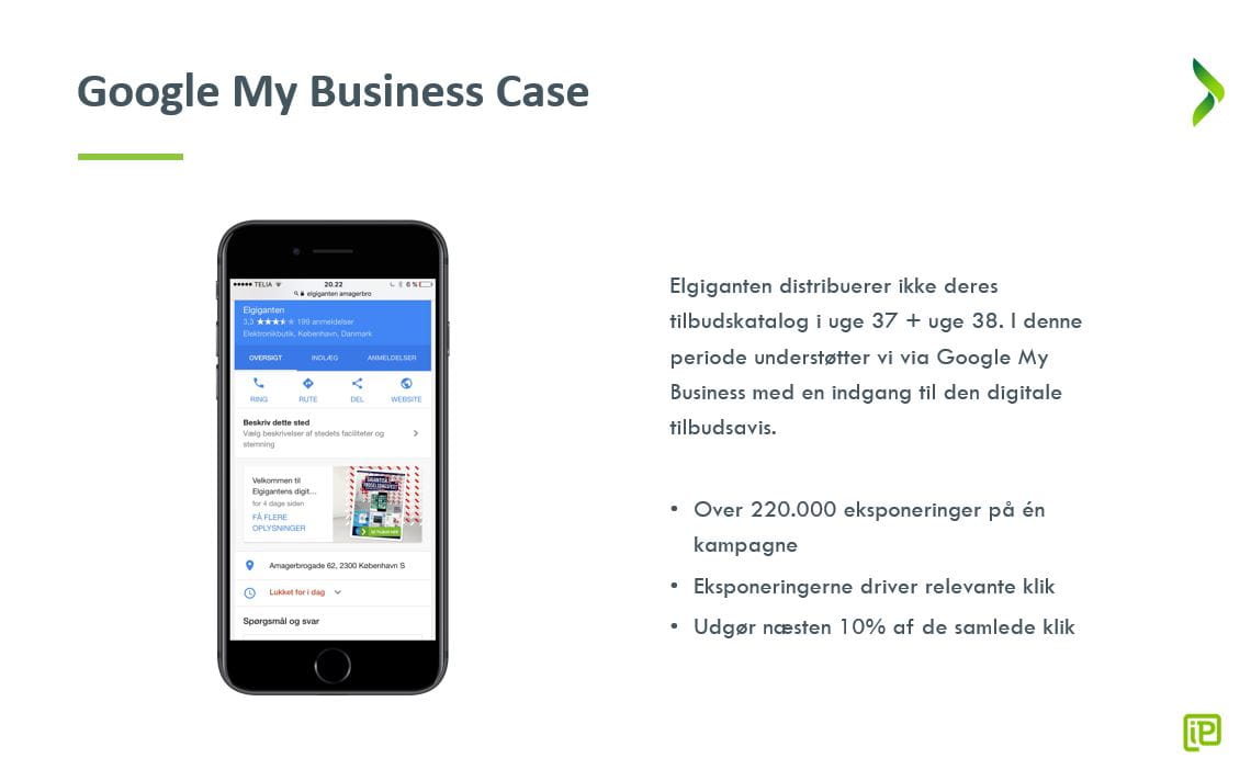 iProspect - Google My Business - Case - Elgiganten