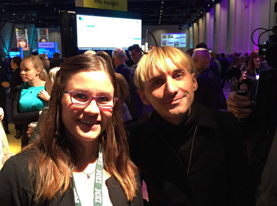 Maarit Kauppila ja Neil Harbisson