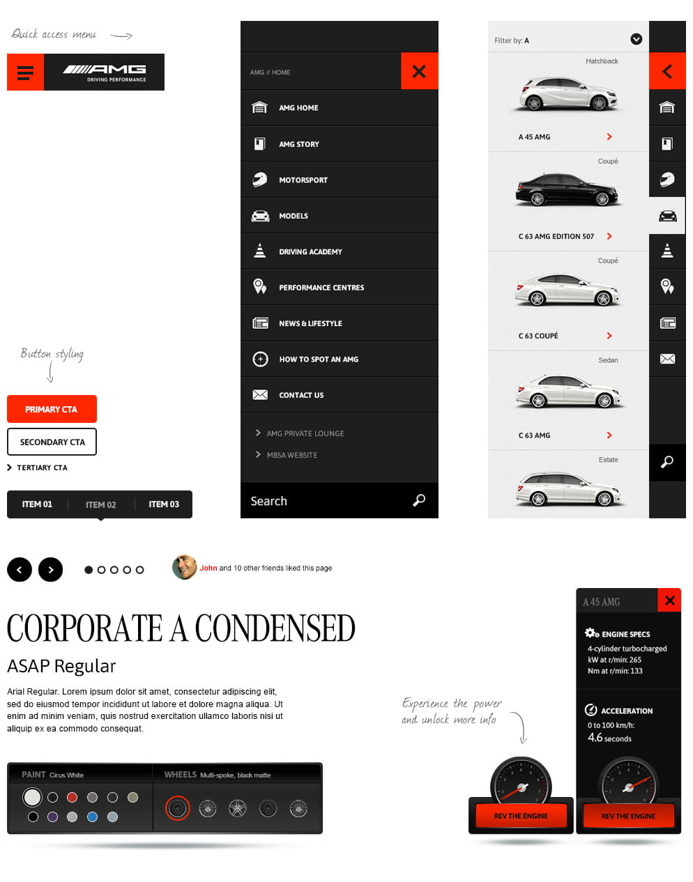 AMG Website UI