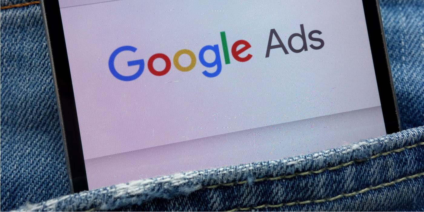 Google Ad in Jean Pocket