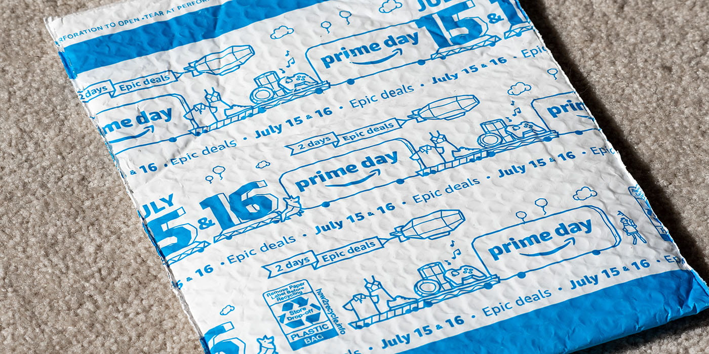 Mailer envelope with Prime Day dates for 2019