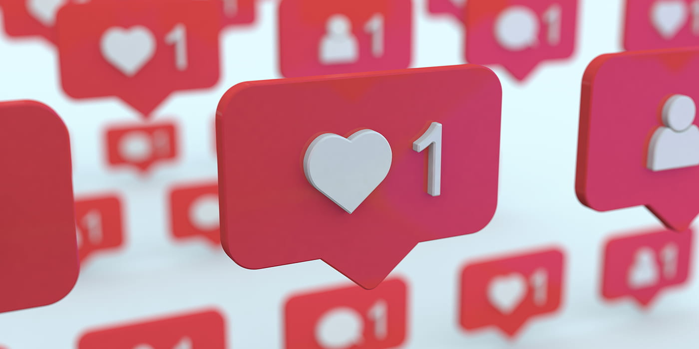 Instagram heart icons